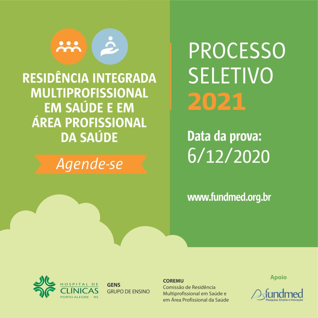 Residência Integrada Multiprofissional em Saúde em Área Profissional da Saúde HCPA 2021