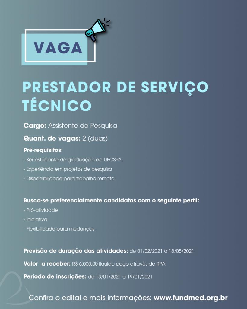 PRESTADOR DE SERVIÇO TÉCNICO