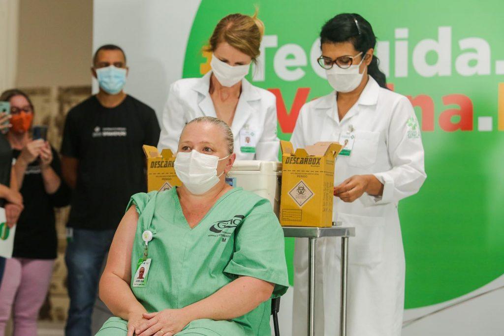 Vacinação Coronavac no Rio Grande do Sul, dia 18 de janeiro de 2021